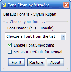 Font Fixer - Replace Vrinda font in Windows